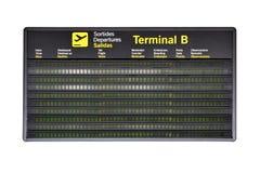 Calendário do aeroporto fotografia de stock