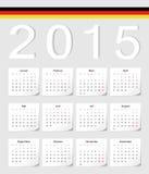 Calendário do alemão 2015 Foto de Stock