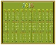 Calendário do ano 2015 Fotos de Stock
