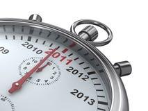 Calendário do ano no cronômetro Imagem de Stock Royalty Free