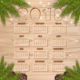 Calendário 2018 do ano novo ilustração royalty free
