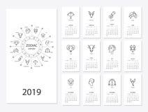 calendário do ano 2019 novo Fotos de Stock Royalty Free