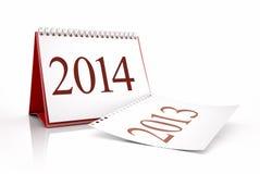 Calendário do ano novo 2014 Foto de Stock