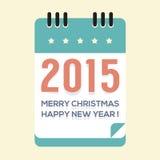 Calendário do ano 2015 novo Imagens de Stock