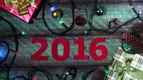 Calendário do ano novo video estoque