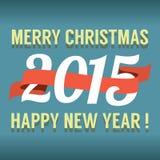 Calendário 2015 do ano novo do vintage Imagem de Stock