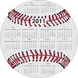 Calendário do basebol Fotografia de Stock Royalty Free