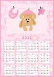 Calendário do bebê para 2011 ilustração do vetor