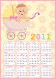 Calendário do bebê para 2011 ilustração royalty free
