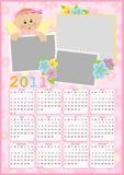 Calendário do bebê para 2011 Fotografia de Stock Royalty Free