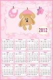 Calendário do bebê para 2012 ilustração do vetor
