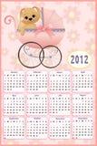 Calendário do bebê para 2012 ilustração stock