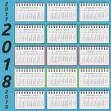 Calendário do bloco de notas, 2018 anos Imagem de Stock Royalty Free