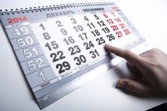 Calendário do calendário de parede com o número de dias fotos de stock