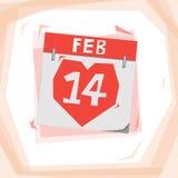 Calendário do coração Ilustração Stock