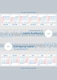 Calendário do Desktop para 2016 Fotos de Stock Royalty Free