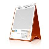 Calendário do Desktop. Vetor. Imagem de Stock Royalty Free