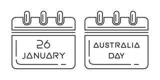 Calendário do dia de Austrália Fotografia de Stock Royalty Free