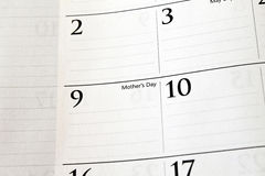 Calendário do dia de matriz Foto de Stock Royalty Free