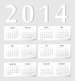 Calendário do europeu 2014 Imagens de Stock Royalty Free