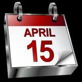 Calendário do fim do prazo do imposto ilustração royalty free