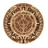 Calendário do Maya de sinais e de símbolos maias ou astecas do hieróglifo do vetor ilustração stock
