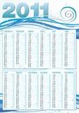 calendário do modo do mar de 2011 ingleses Imagens de Stock
