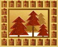 Calendário do Natal Fotos de Stock Royalty Free