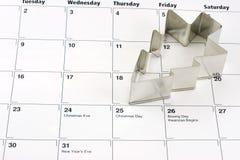 Calendário do Natal Imagens de Stock Royalty Free