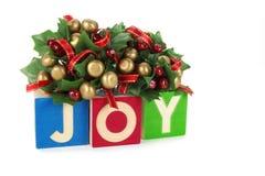 Calendário do Natal com o 25 de dezembro em blocos de madeira Foto de Stock Royalty Free