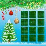 Calendário do Natal Fundo Imagens de Stock Royalty Free