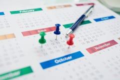 Calendário do negócio imagem de stock