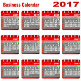 Calendário 2017 do negócio Fotos de Stock