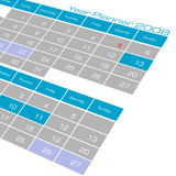 Calendário do planejador do ano Fotografia de Stock