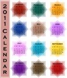 Calendário do sumário 2011 Imagem de Stock Royalty Free