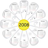 Calendário do vetor Imagens de Stock