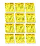 Calendário do vetor Foto de Stock