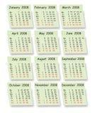 Calendário do vetor Imagem de Stock