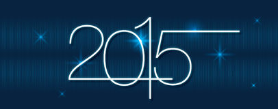 Calendário 2015 do vetor ilustração stock