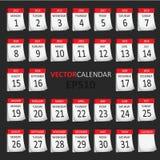 Calendário do vetor Fotografia de Stock