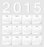 Calendário do vetor do russo 2015 Fotografia de Stock Royalty Free