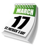Calendário dos dias de St Patrick ilustração stock