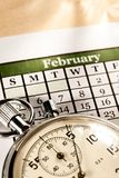 Calendário e cronômetro imagem de stock