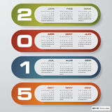 Calendário editável simples 2015 do vetor Foto de Stock