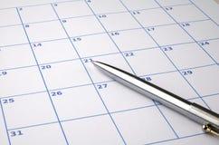 Calendário em branco Fotos de Stock