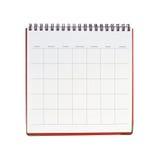 Calendário em branco imagem de stock