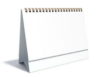 Calendário em branco do desktop Imagens de Stock Royalty Free