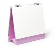 Calendário em branco do desktop no fundo branco Fotografia de Stock Royalty Free