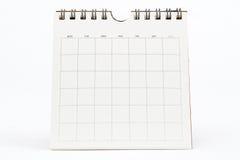 Calendário em branco isolado no branco Fotografia de Stock Royalty Free