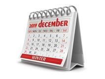 Calendário - em dezembro de 2019 ilustração royalty free
